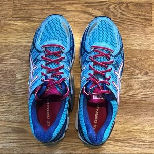 ASICS Kayano 21 - Ladies Size 11 - New - Blue/Pink